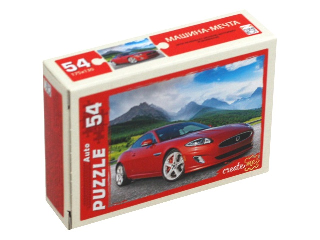 Пазлы   54 детали Рыжий кот Машина мечта П54-6342