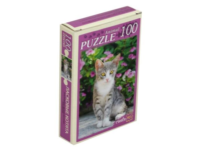 Пазлы  100 деталей Рыжий кот Ласковые котята П100-5964