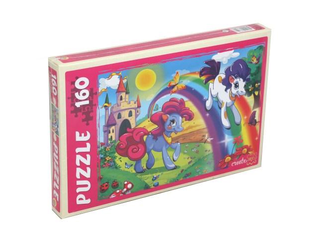 Пазлы  160 деталей Рыжий кот Удивительные пони П160-6352