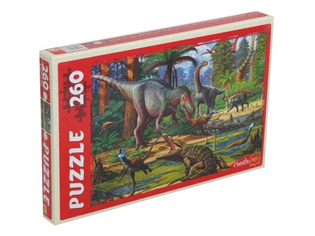 Пазлы  260 деталей Рыжий кот Мир динозавров П260-1638