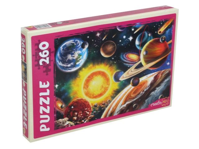 Пазлы  260 деталей Рыжий кот Мир космоса П260-1591