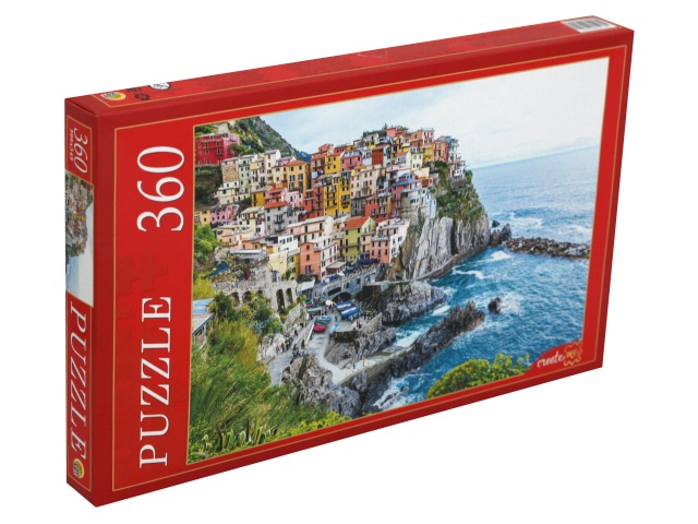 Пазлы  360 деталей Рыжий кот Италия Манарола КБ360-0645