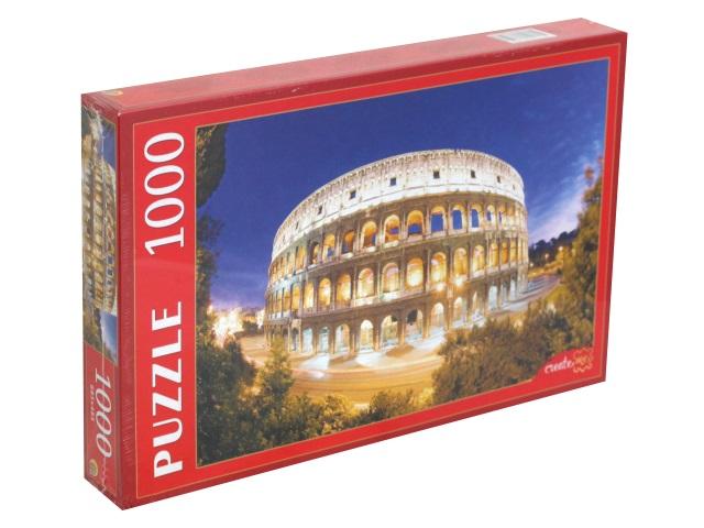 Пазлы 1000 деталей Рыжий кот Колизей в вечернем освещении КБ1000-6854