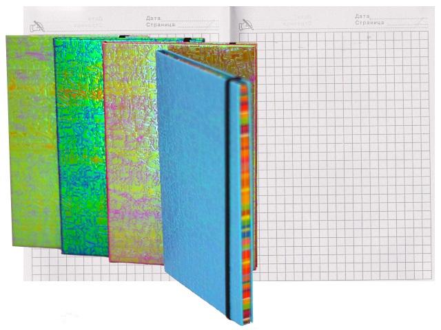 Ежедневник В6 тв/переплёт  96л Basir голография цветной на резинке МС-3181