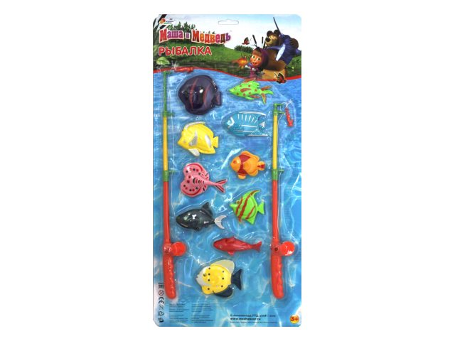 Рыбалка 10 рыбкок 2 удочки Маша и медведь Играем вместе D938-H24041-R2
