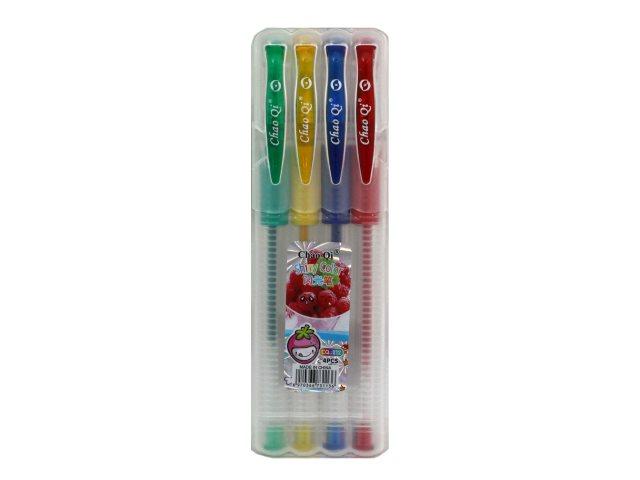 Ручка гелевая набор  4цв Basir 0.5мм 212-4