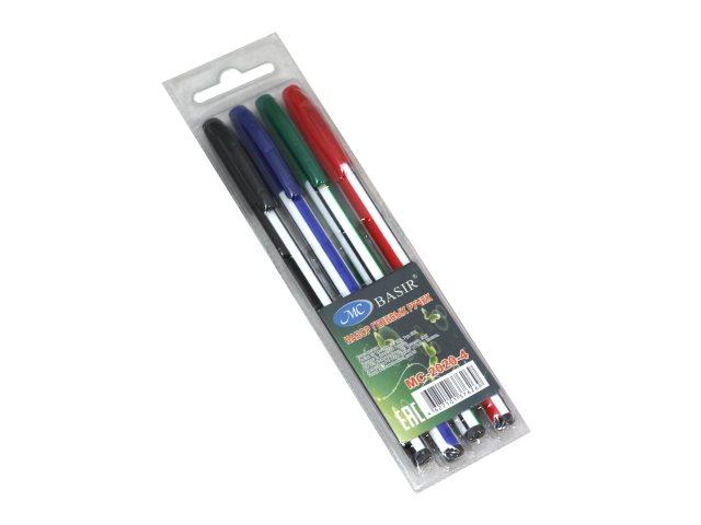 Ручка шариковая набор  4цв Basir 0.5мм МС-2020-4