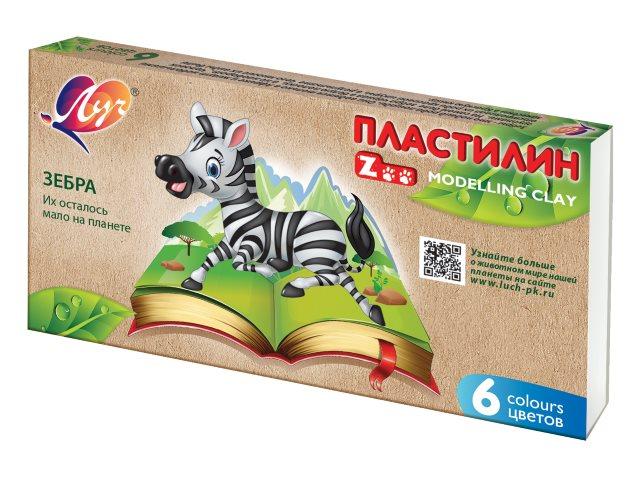 Пластилин  6 цветов Луч Zoo 30С 1810-08