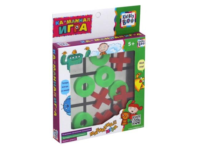 Настольная магнитная игра Крестики-нолики Карманная Kribly Boo 68877