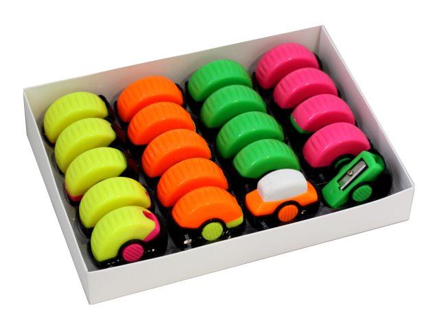 Точилка с ластиком Mazari Turn цветная M-6799