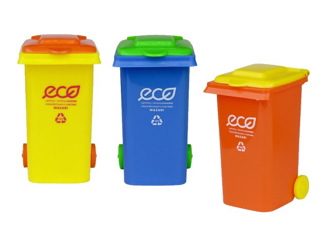 Стакан для ручек пластик Mazari Eco цветной M-4330