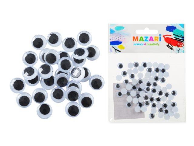 Декоративные элементы Глазки  8 мм 80 шт. Mazari M-4320