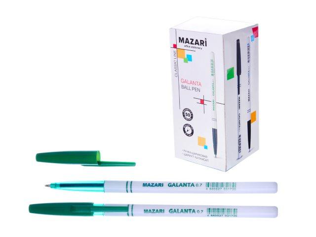 Ручка масляная Mazari Galanta зеленая 0.7мм М-5900-73