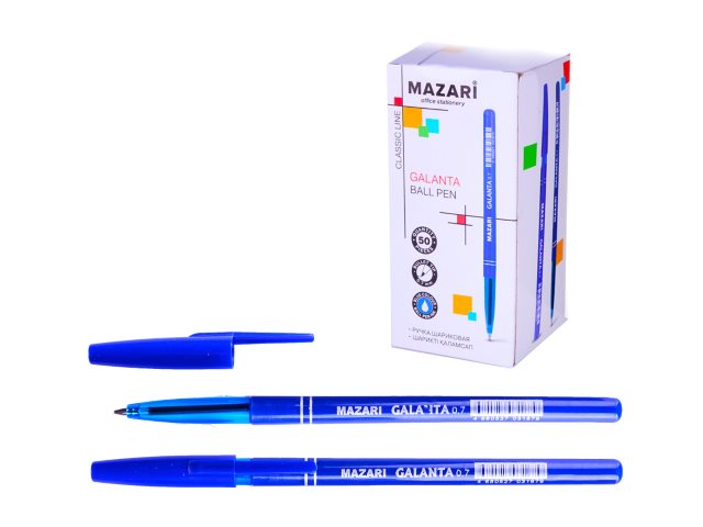 Ручка масляная Mazari Galanta синяя 0.7мм M-5901-70