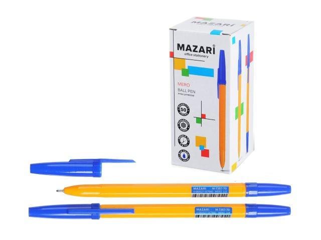 Ручка шариковая Mazari Mero синяя 0.8мм M-7357-70