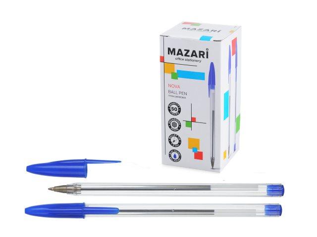 Ручка шариковая Mazari Nova синяя 1мм M-7358-70