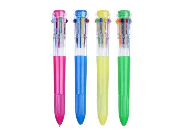 Ручка шариковая 10-ти цветная автомат Mazari Warna M-7383\50