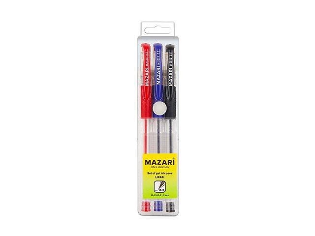 Ручка гелевая набор   3цв Mazari Lipari 0.5мм М-5510-3