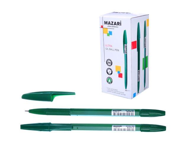 Ручка масляная Mazari Ultra зеленая 1мм M-5711-73