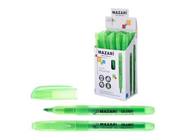 Маркер текстовый Mazari Glory зеленый скошенный 4мм M-4585-73