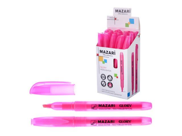 Маркер текстовый Mazari Glory розовый скошенный 4мм M-4585-76
