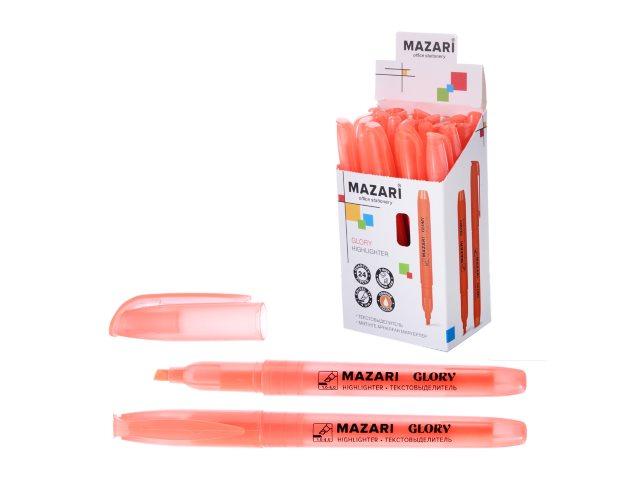 Маркер текстовый Mazari Glory оранжевый скошенный 4мм M-4585-77