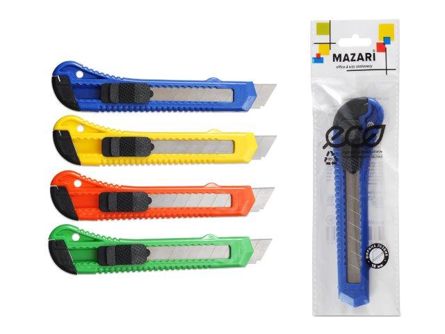 Нож канцелярский 18 мм Mazari M-6303