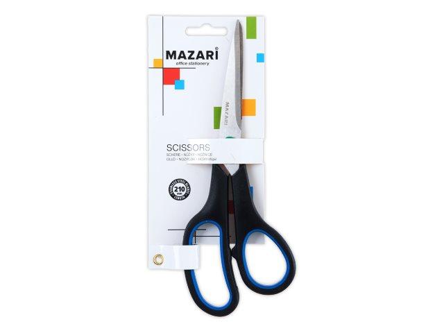 Ножницы 21 см Mazari прорезиненные ручки M-5604