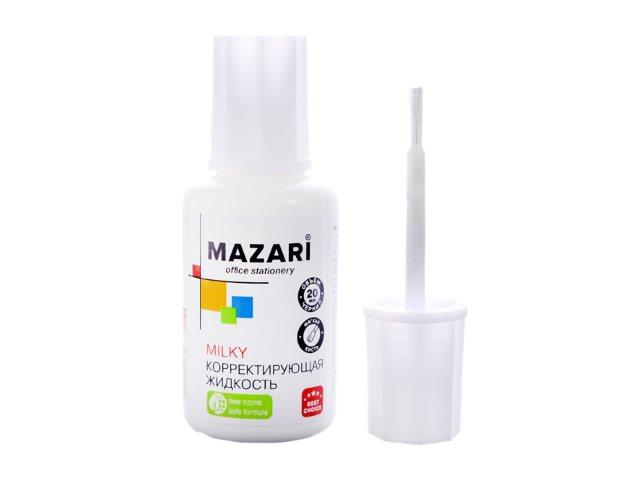 Корректор с кисточкой Mazari Milky 20мл водный М-4101