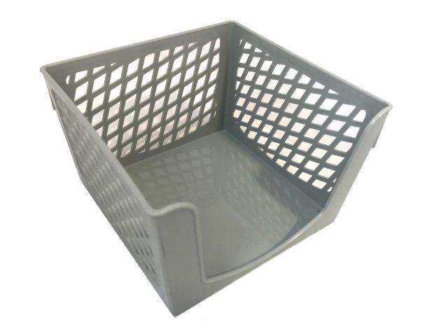 Бокс для бумаги 9*9*5 см Mazari Office пластик серый М-16012
