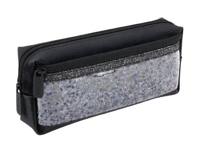 Пенал-косметичка Kite Блестки черный с карманом K20-647-9