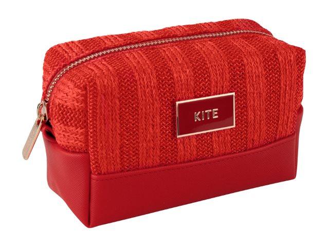 Косметичка Kite Гламур 15*9*7см красная K20-761-1