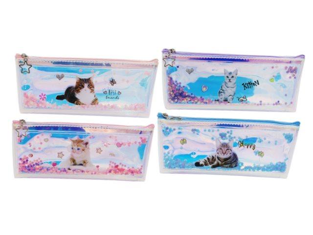 Пенал-косметичка Basir Кошки с плавающими звездочками МС-5174