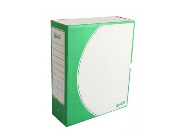 Папка архивная картон А4 10см Фис Стандарт зеленая 1800