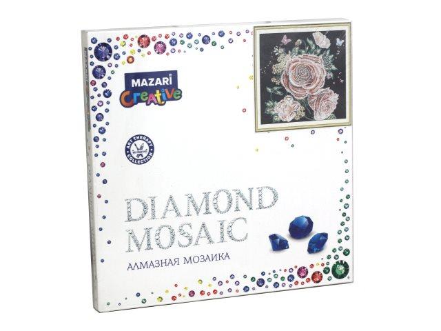 Алмазная мозаика 30*30см Mazari Розы и бабочки M-10605