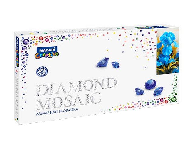 Алмазная мозаика 22*40см + рама 24*44см Mazari Ирисы M-10683