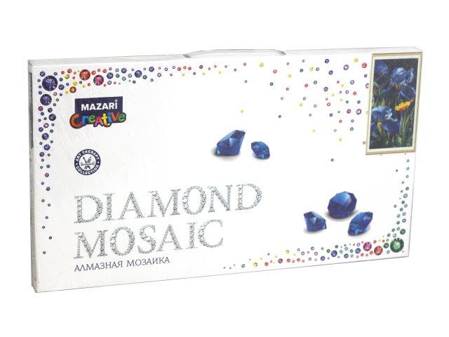 Алмазная мозаика 22*40см + рама 24*44см Mazari Ирисы и мак M-10693