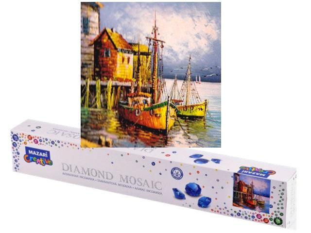 Алмазная мозаика без подрамника 30*30см Mazari Домик у моря M-10513