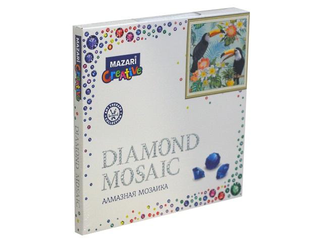 Алмазная мозаика 30*30см Mazari Туканы M-10632