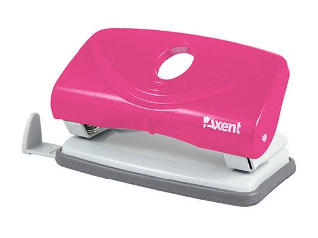 Дырокол на  10л Axent пластик Welle-2 розовый 3811-10-А