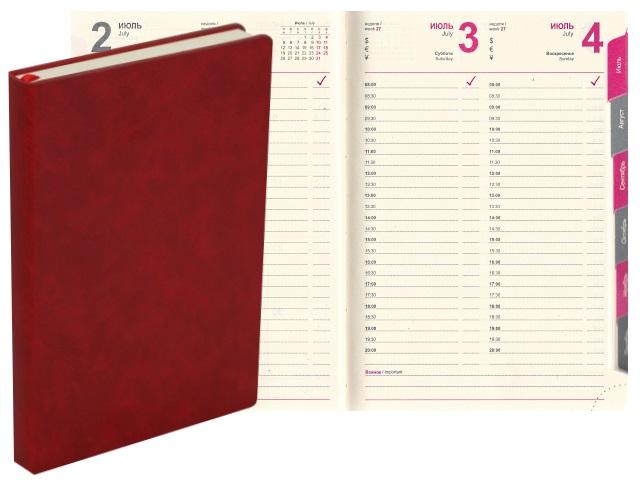 Ежедневник 2021 А5 кожзам 164л J.Otten Классик красный 1036-23