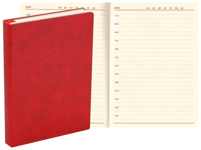 Ежедневник А6+ кожзам 176л J.Otten Классик красный 1036-23