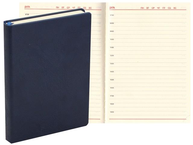 Ежедневник А6+ кожзам 176л J.Otten Классик синий 1036-12