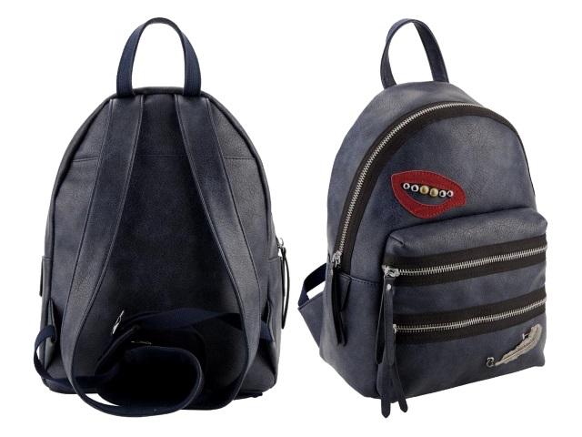 Рюкзак кожзам Kite Dolce 26*12*35см темно-синий K18-2526S-2