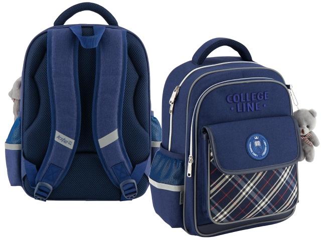 Рюкзак Kite College Line 38*28*15см синий с брелком K18-736M-2