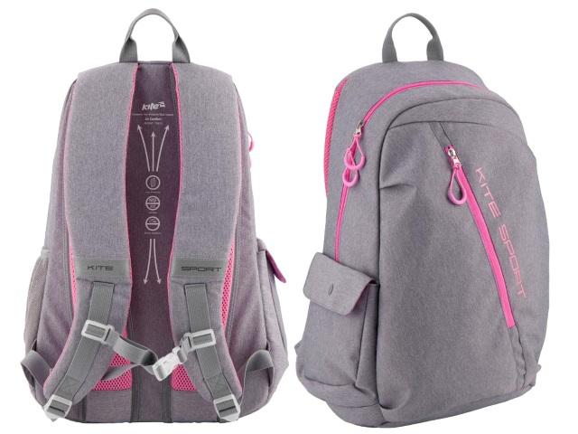 Рюкзак Kite Sport 50*33*21см серо-розовый K18-838L