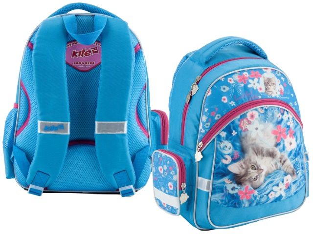 Рюкзак Kite Pretty kitten 38*29*13см голубой R18-521S