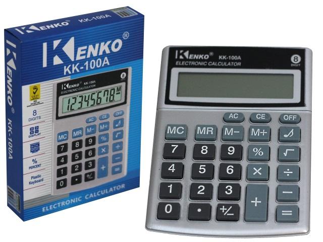 Калькулятор  8-разрядный Kenko 14*10см серый KK-100А