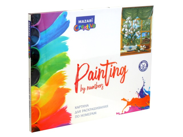 Картина по номерам 40*50см Mazari Цветы на окне M-11428