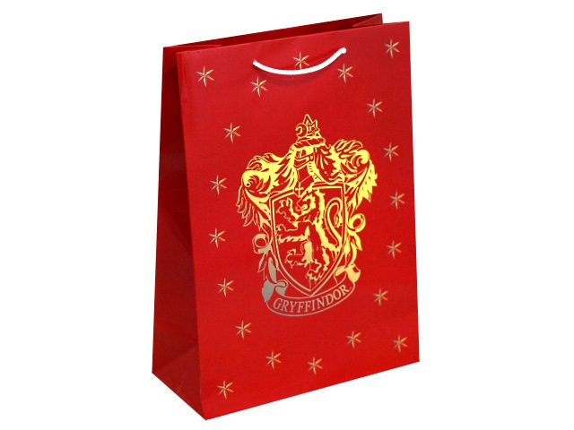 Пакет подарочный бумажный 22*31*10см NDPlay Harry Potter Герб Гриффиндор 278541